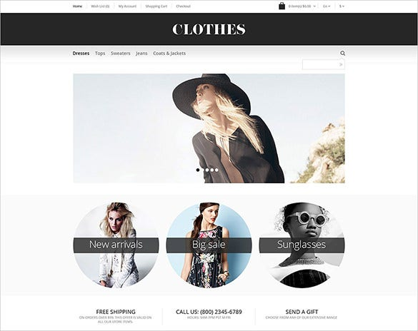 clothes fashion html5 theme