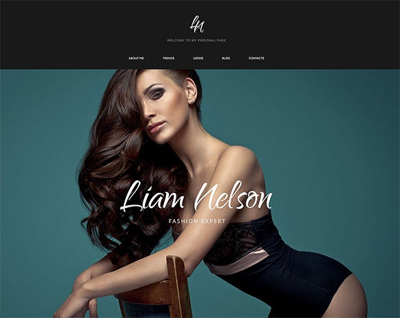 beautiful fashion html5 template