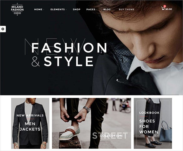 fashion style html5 theme