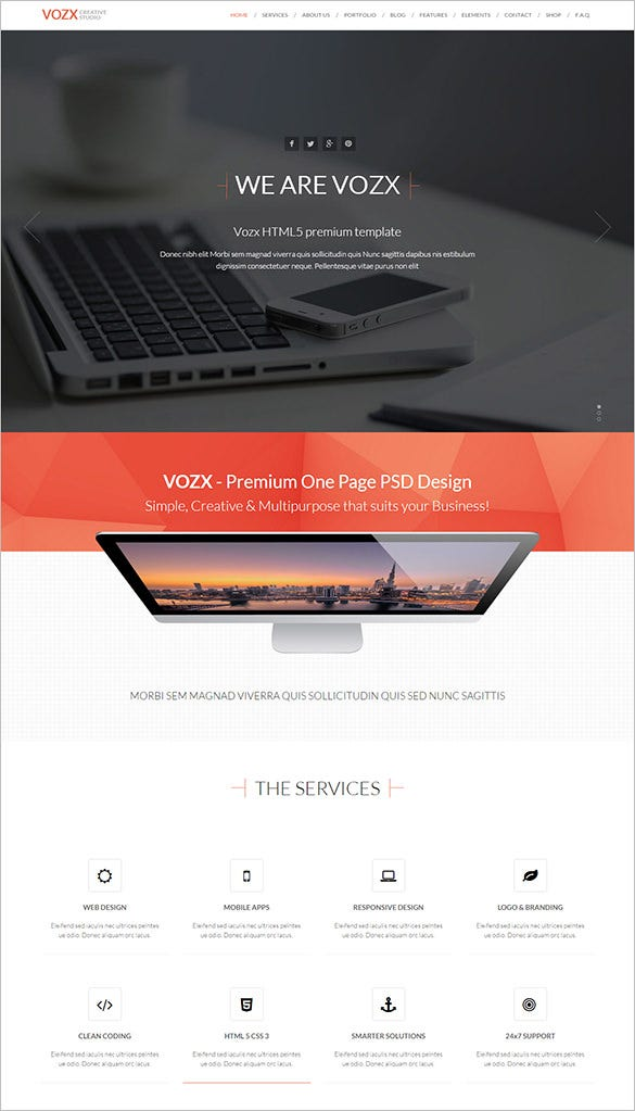 fashion agency html5 template