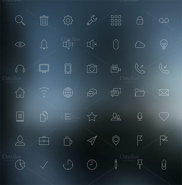 vector set of modern simple web icons