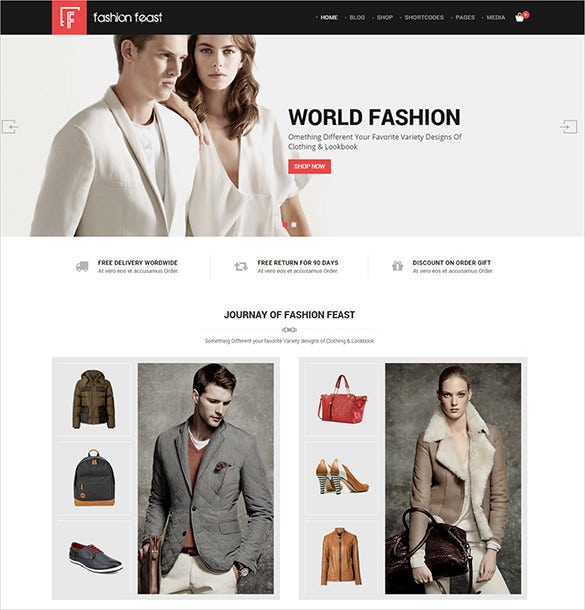 fashion feast html5 template