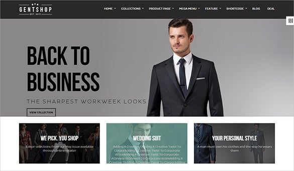 gents fashion html5 template