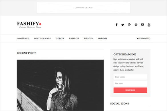 fashify fashion html5 template