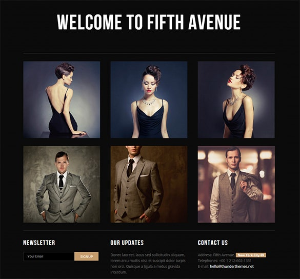 superb fashion html5 theme