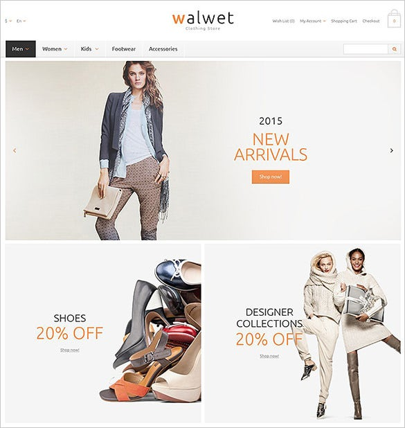 trendy cloth fashion opencart template