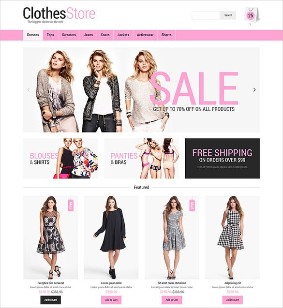 womans fashion opencart template