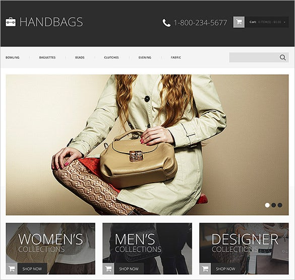 hand bag fashion store opencart theme