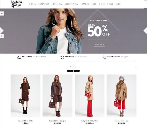 responsive fashion style opencart theme