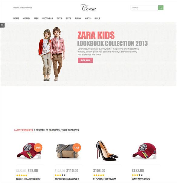 premium fashion opencart template
