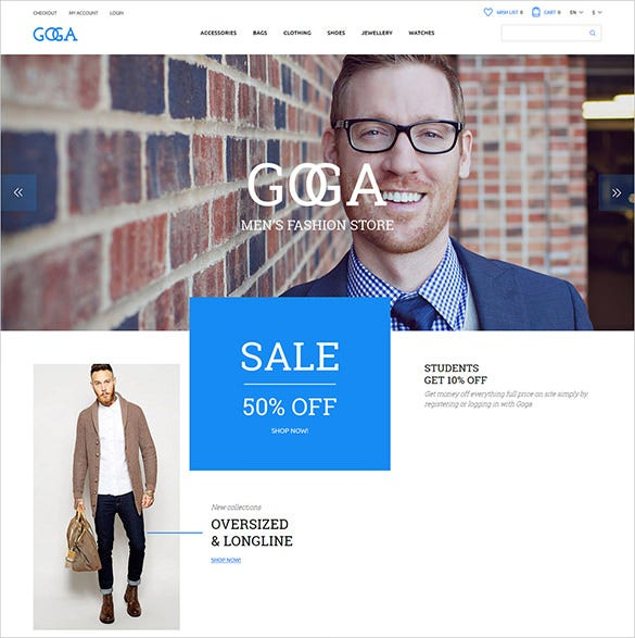responsive fashion opencart bootstrap theme