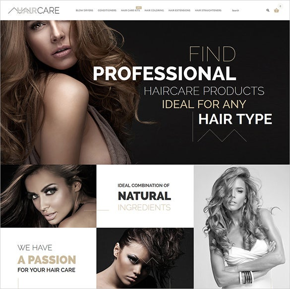 hair fashion bootstrap theme