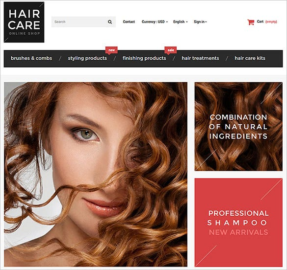 hair care fashion prestashop bootstrap template