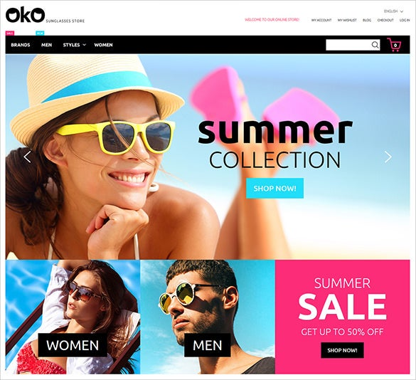 fashion glasses magento bootstrap theme