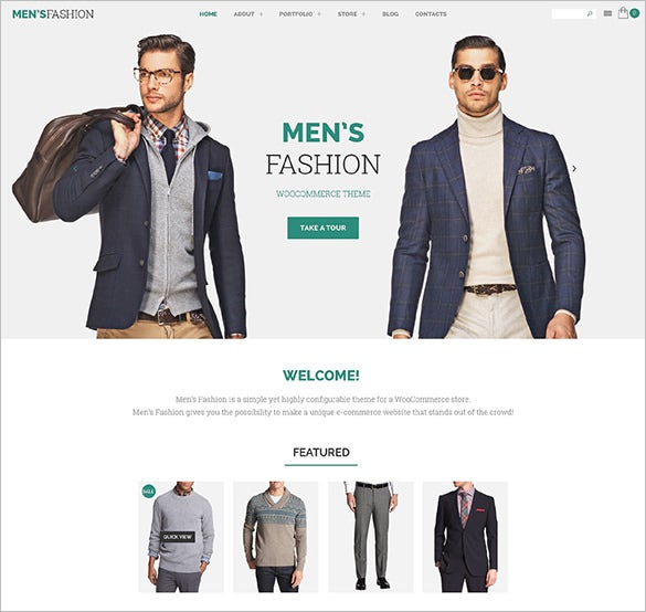 mens fashion woocommerce bootstrap theme
