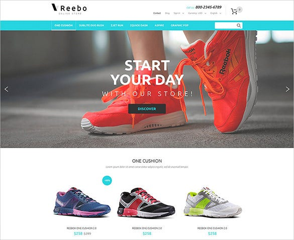 shoe fashion prestashop template