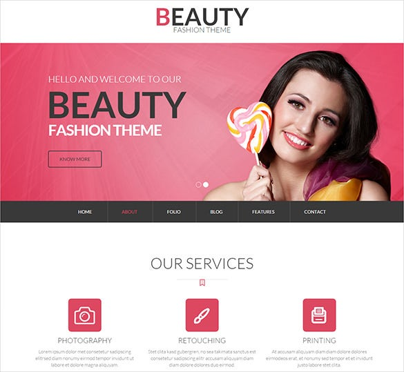 beauty fashion store bootstrap theme