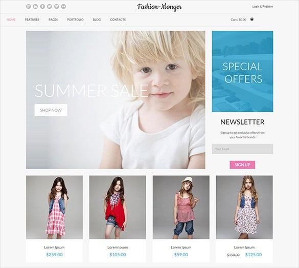 fashion responsive bootstrap template