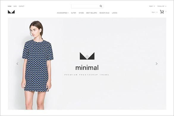 minimal fashion php theme