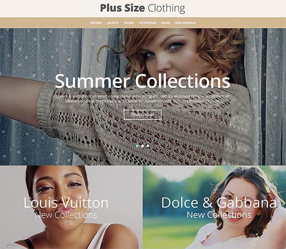 plus size clothing fashion prestashop template