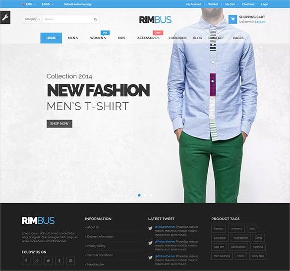 mens fashion php ecommerce theme