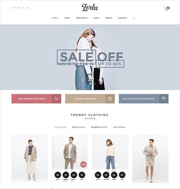 fashion html5 php theme