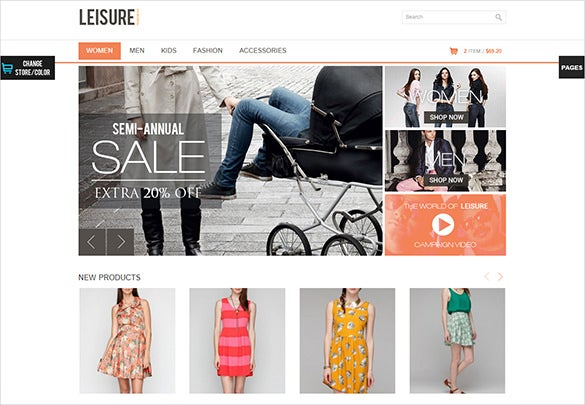fashion shop magento php template