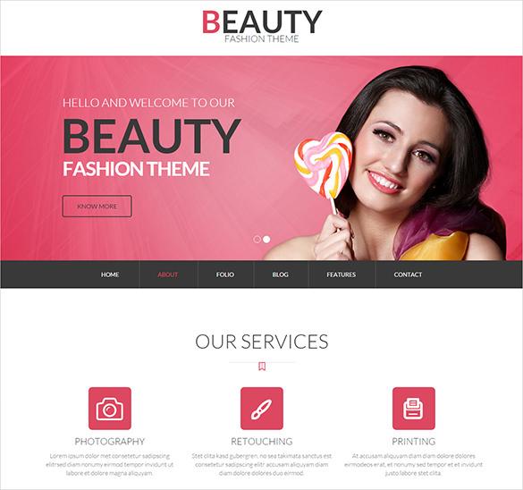 beauty fashion php theme