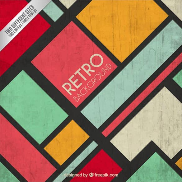 retro background in colorful style free vector