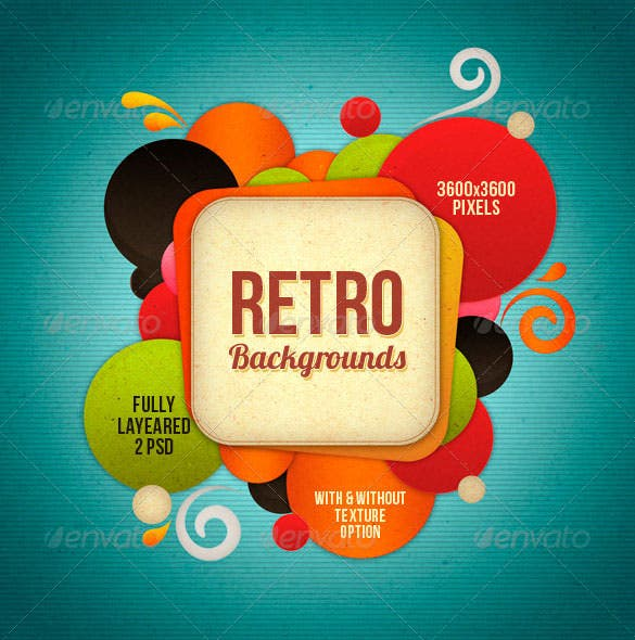 premium download retro background psd download