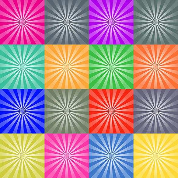 set of retro ray backgrounds eps download