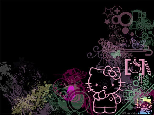 free download hello kitty retro background