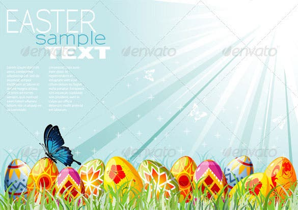 easter background vector eps format