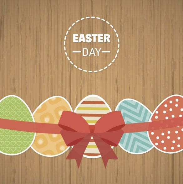 easter eggs on wood background download