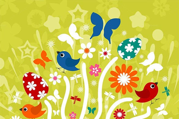 easter background illustration psd design