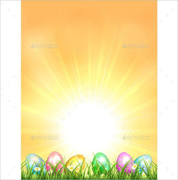 sun rising easter background eps format