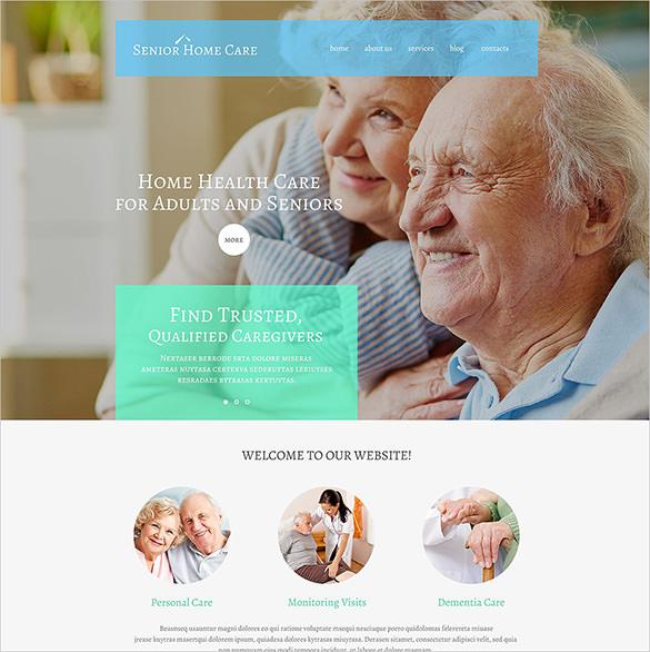 senior home care wordpress theme