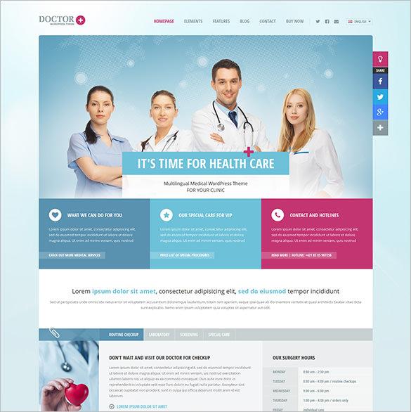 responsive medical wordpress theme