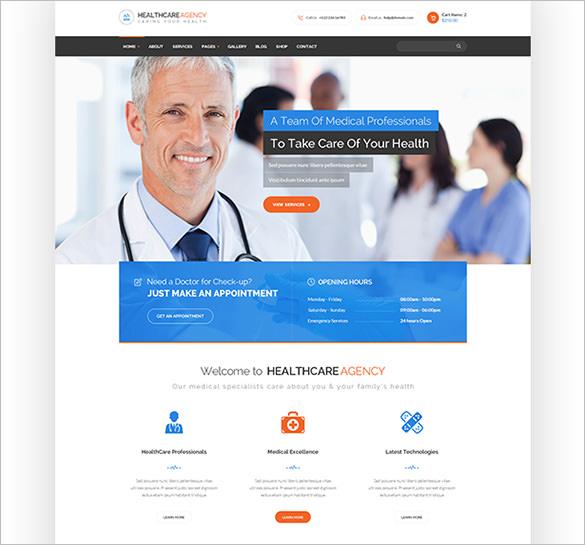 healthcare agency health medical wordpress