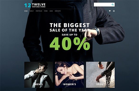 watch fashion website theme