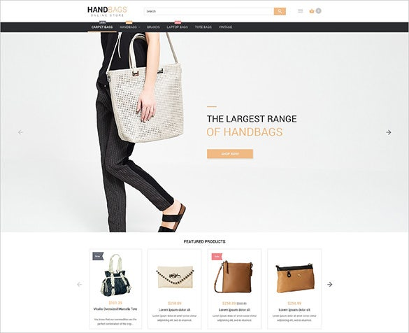 hand bags fashion magento website template