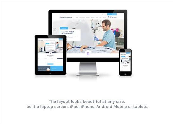 health medical responsive wordpress theme