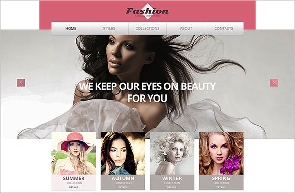 apparel fashion website template