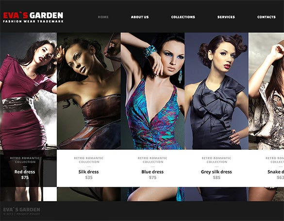 simple fashion website theme