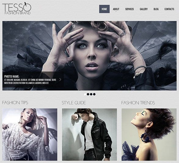 fashion brand website theme