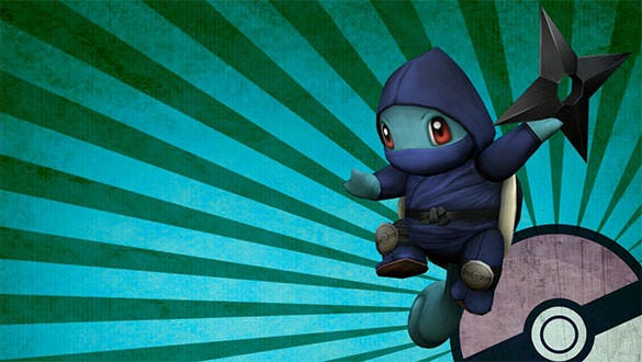 ninja squirtle pokemon wallpaper download