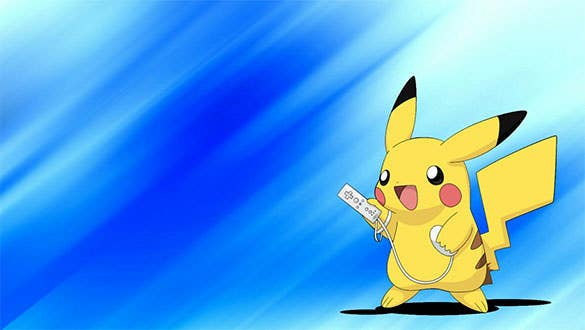 pikachu playing wii pokemon download