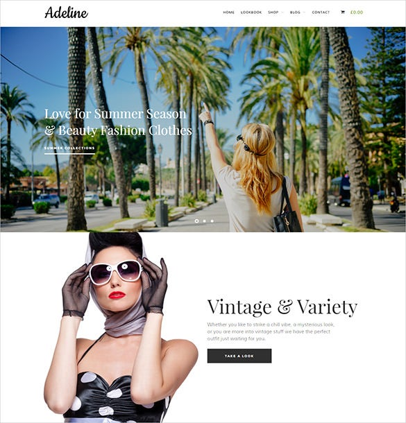 fashion store woocommerce website template
