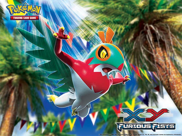 furious fists hawlucha pokemon background download