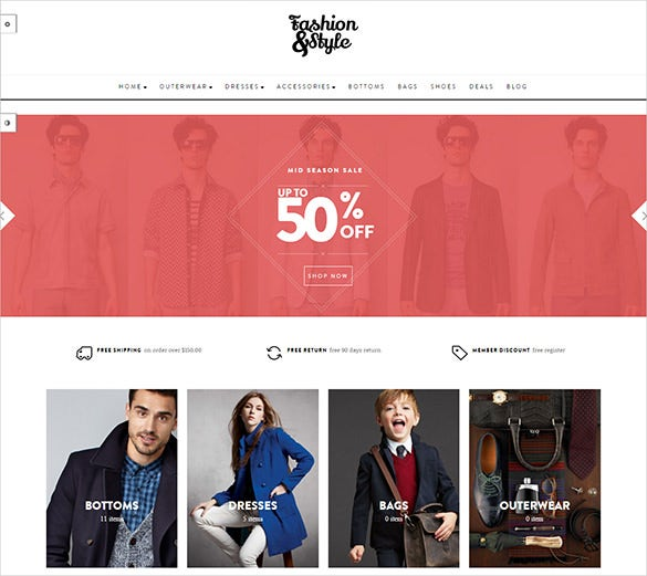 fashion style opencart website template